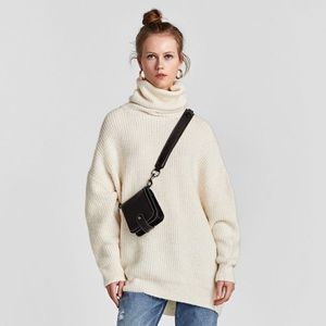 Zara New✨Oversized Turtleneck Sweater
